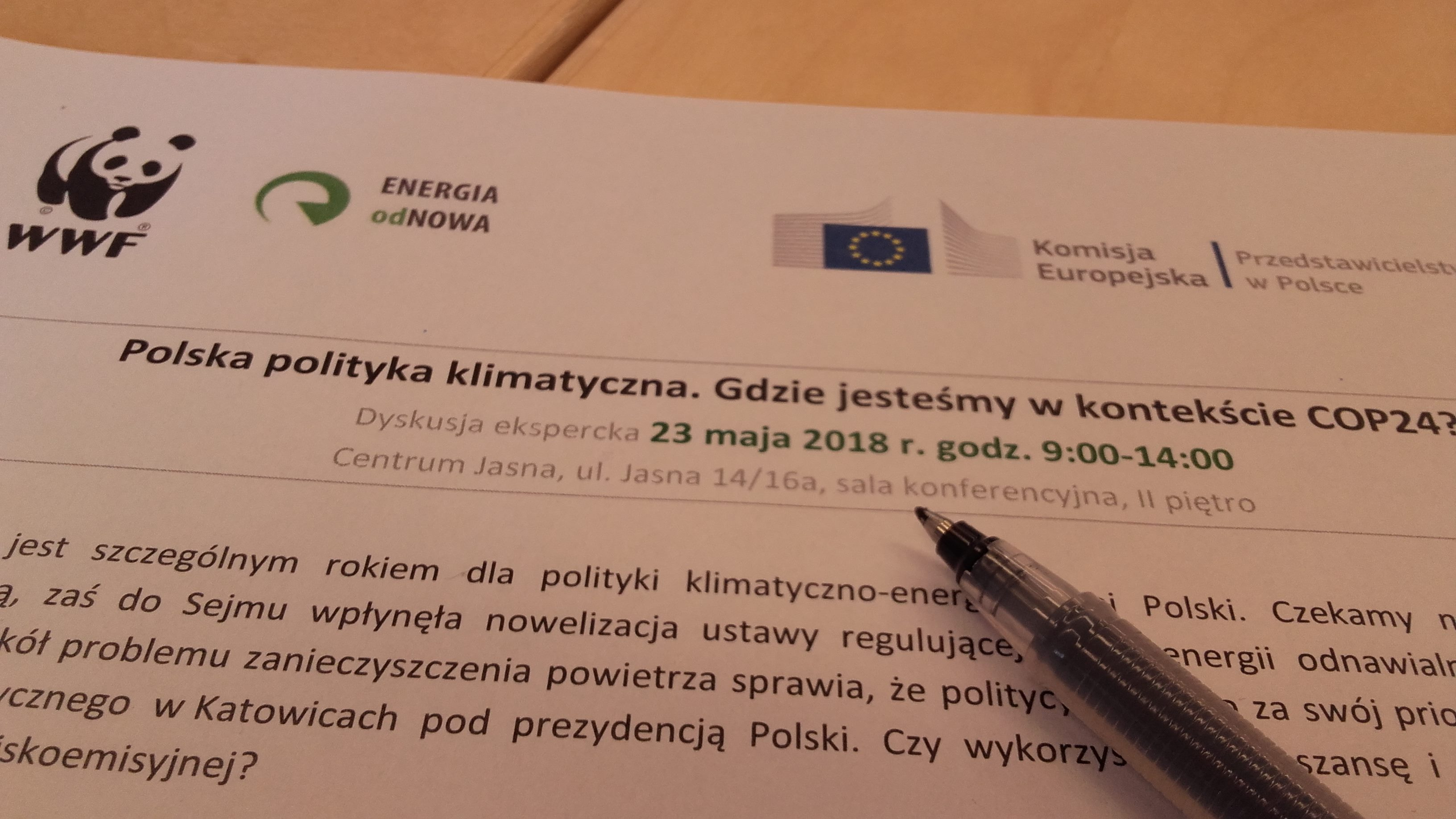Expert debate organized by WWF and the Representation of the European Commission in Poland
